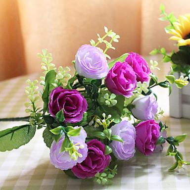 Flori artificiale 1 ramură Clasic / Single Rustic Trandafiri Față de masă flori