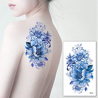 3 pcs Acțibilde de Tatuaj Tatuaje temporare Serie de Flori Arta corpului braț / umăr