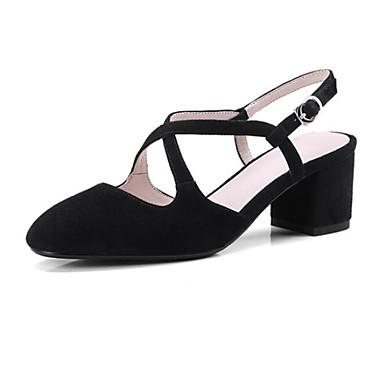 Noir Kaki 06771032 Sandales Chaussures Peau Confort Gris de Talon Eté Femme mouton Bottier xPqwzF7CC
