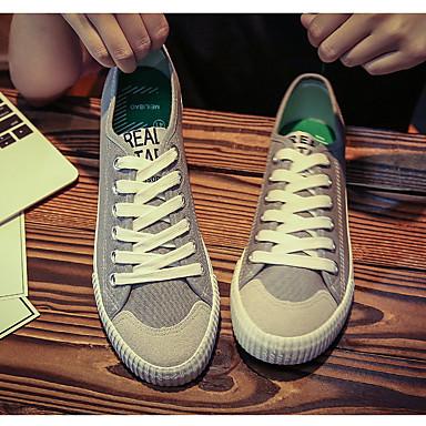 Bărbați Pantofi de confort Pânză Primăvară Adidași Alb / Negru / Gri / În aer liber
