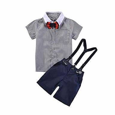 Bebelus Băieți Bloc Culoare Manșon scurt Set Îmbrăcăminte