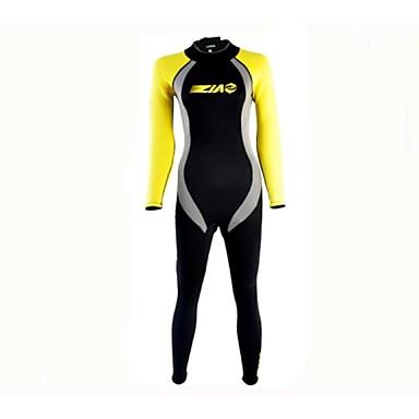 Pentru femei Neopren Întreg 3mm Costume de scafandru Elastic Manșon Lung Fermoar Spate Clasic Vară
