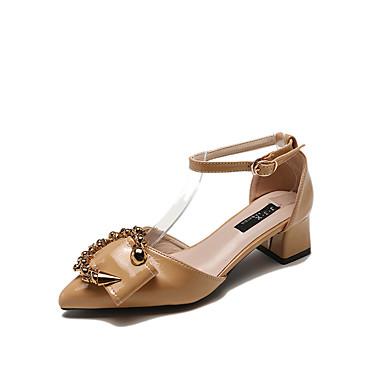 amp; Bottier Noir 06737937 Polyuréthane Talon Marche Sandales Boucle Chaussures D'Orsay Femme Kaki Eté Bout pointu Pièces Deux vxwI6a56