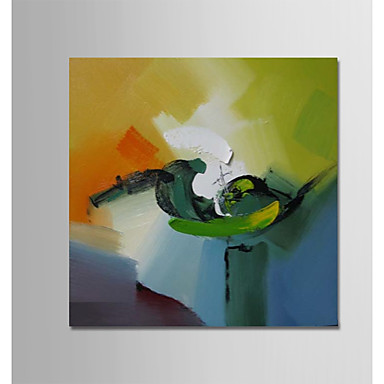 Hang-pictate pictură în ulei Pictat manual - Abstract Modern Includeți cadru interior / Stretched Canvas