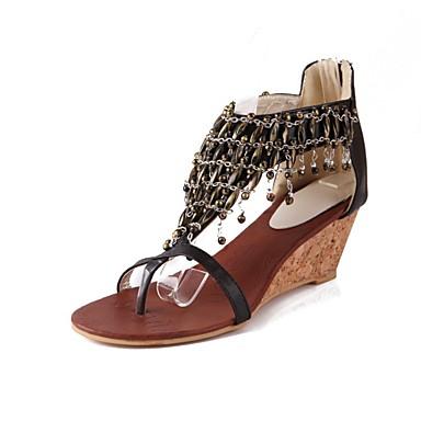 Polyuréthane 06754266 Chaussures Bas Femme Noir Eté Talon Amande Sandales Confort qBzUwzZ