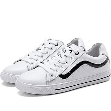 Bout Chaussures Cuir Femme Noir Printemps Rouge Basket été Plat Talon Confort 06767180 rond 8pwqTZxU