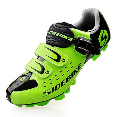 رخيصةأون أحذية ركوب الدراجة-SIDEBIKE Mountain Bike Shoes ألياف الكربون مقاوم للماء خفيف جدا (UL) ركوب الدراجة أسود أحمر أخضر رجالي أحذية الدراجة / شبكة قابلة للتنفس / هوك وحلقة