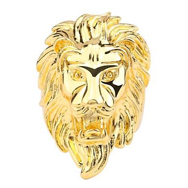 Muškarci Prsten 1pc Zlato Kamen Rock Dnevno Jewelry 3D Lav