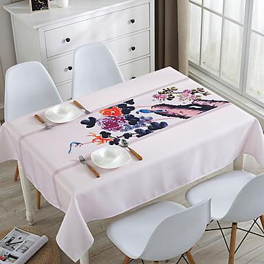 Clasic / Casual 100g / m2 Poliester Tricot Stretch Pătrat Fețe de masă Mată / Floral Decoratiuni de tabla 1 pcs