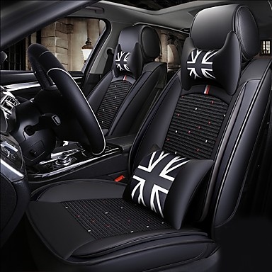 2a52c9b19b586 ODEER Car Seat Cushions Seat Covers Black Textile / Artificial Leather  Common for universal All years All Models