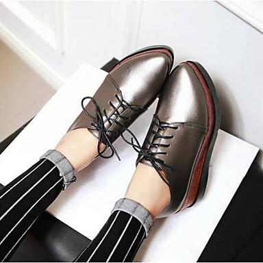 Noir Creepers Gris 06770290 Automne Femme Polyuréthane Printemps Chaussures Oxfords Confort Sx0S61Fqw