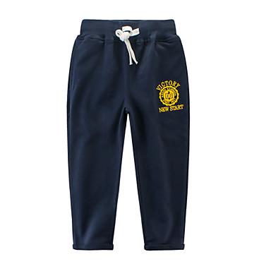 Copii Băieți De Bază Mată Bumbac Pantaloni