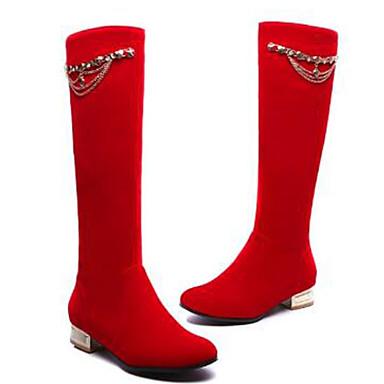la Chaussures Automne rond Block Evénement 06768427 Mode Bottes Heel amp; Bleu Rouge Noir Bottes à Bottes hiver Bout Daim Femme Soirée SEYqdw4S