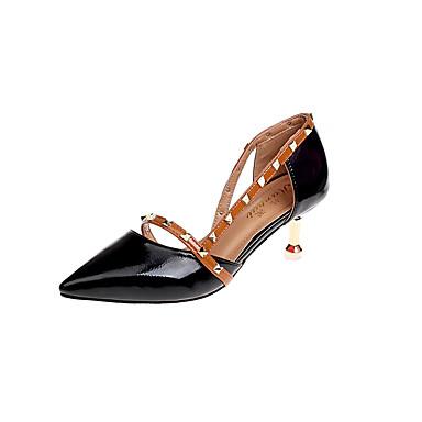 Pentru femei Pantofi Imitație Piele Primavara vara Balerini Basic Tocuri Toc Mic Ținte Negru / Bej / Roz Deschis / Party & Seară / Party & Seară