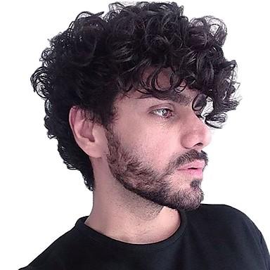 povoljno Tupe-Muškarci Ljudska kosa Tupe Wavy Lace Front S bijelim čvorovima