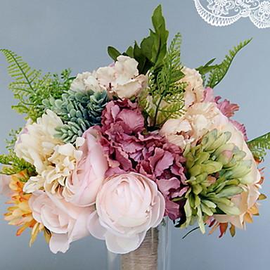 Flori artificiale 1 ramură Single Nuntă / Flori de Nuntă Trandafiri / Hydrangeas / Violet Față de masă flori