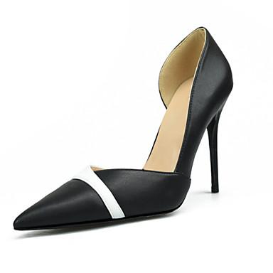 Aiguille Chaussures Escarpin Automne été Noir Rouge Chaussures Femme Polyuréthane Basique Printemps Talons à Bout pointu 06736348 Talon Chair qX0gFP