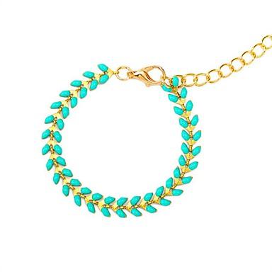 baratos Bangle-Mulheres Tanzanite sintética Bracelete Longas senhoras Vintage Étnico Fashion Resina Pulseira de jóias Azul Para Diário Escola