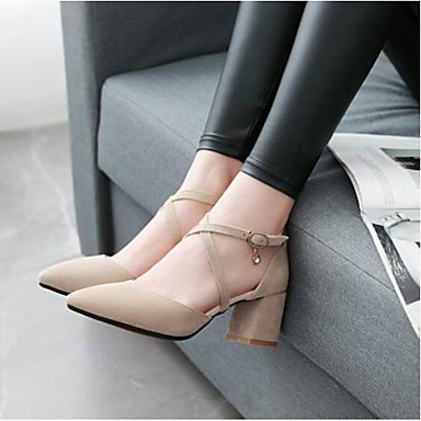 Negro Beige Cuadrado Mujer Descubierto Cuero Zapatos cerrada Tacones Primavera Tacón Talón verano Punta Amarillo Confort de Cerdo 06767339 ggZqwP16