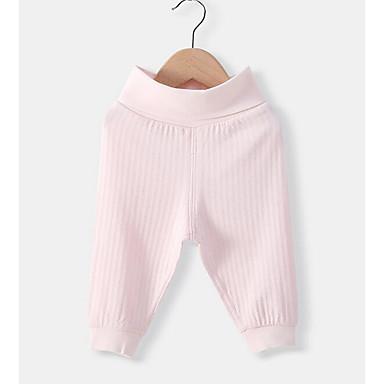 10596d9d8a0 Μωρό Κοριτσίστικα Βασικό Καθημερινά Μονόχρωμο Πολυεστέρας Παντελόνι Λευκό /  Νήπιο