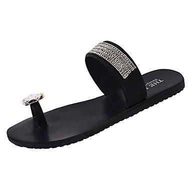 Mujer flops flip Plateado Tacón Dorado Zapatos Frontal Anillo y PU Verano Plano 06755925 Zapatillas 1Ag4rq1x