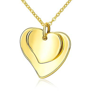 Pentru femei Coliere cu Pandativ - Placat Auriu Inimă Modă Heart Auriu 45 cm Coliere Bijuterii 1 buc Pentru Cadou, Zilnic