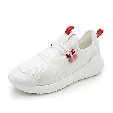 Noir d'Athlétisme été Femme Polyuréthane 06752101 rond Confort Bout Blanc Printemps Chaussures Talon Plat Chaussures Maille Marche T0wqg6
