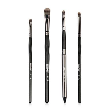 4-Pachet Machiaj perii Profesional Perie  Fard / Perie Buze Fibră nylon Acoperire Integrală Lemn / Bambus