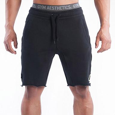 בגדי ריקוד גברים שורט לריצה - שחור, אפור ספורט מכנסיים קצרים לבוש אקטיבי נושם, נוח, תומך זיעה סטרצ'י (נמתח)