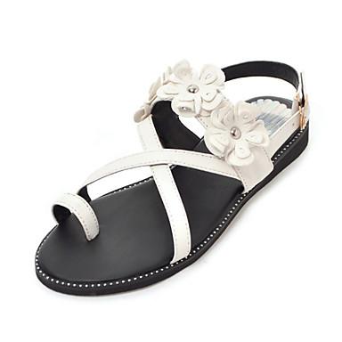 Bride Jaune Polyuréthane Automne 06768455 Noir hiver Talon Plat Sandales Orteil ouvert Confort Boucle Bout Chaussures Femme Beige S5ZEqwTxXw