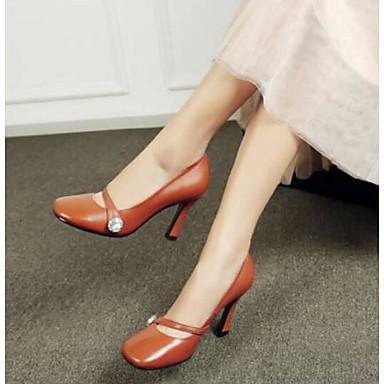 Escarpin Aiguille Printemps Chameau Femme à mouton Blanc Chaussures Noir Basique Talon 06770609 Talons Confort de Chaussures Peau TnY7fqA
