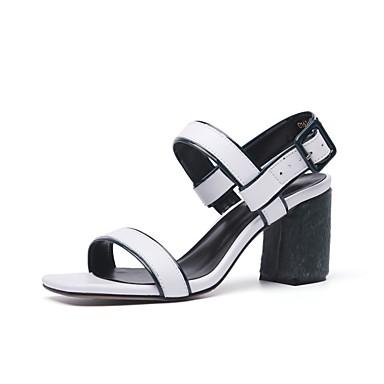 06756505 Eté Talon Femme Blanc Confort Cuir Bottier Chaussures Sandales Gris pAqP6