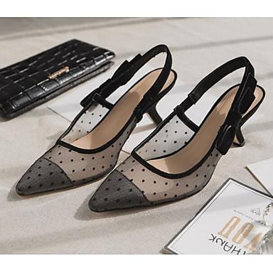 Women's Heels Shoes Synthetics Spring Comfort Heels Women's Stiletto Heel Black 12ff69
