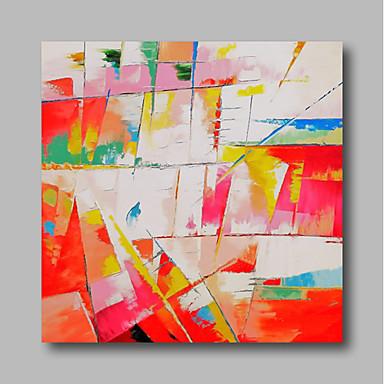 Hang-pictate pictură în ulei Pictat manual - Abstract Contemporan / Modern Includeți cadru interior / Stretched Canvas