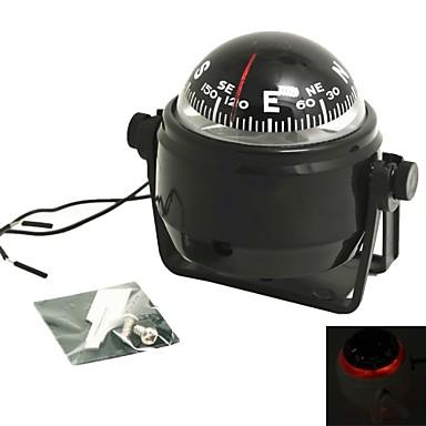 voordelige Autohangers & Ornamenten-draaibare kompas dashboard dash mount marine boot truck auto zwart met led-licht kompassen