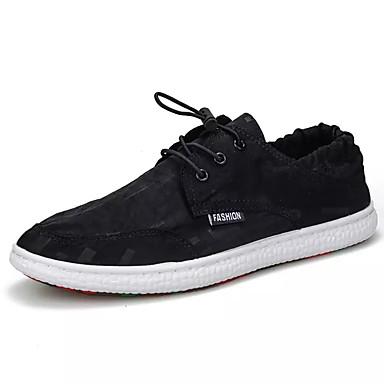 Bărbați Pantofi Pânză Vară Confortabili Adidași Negru / Portocaliu / Gri