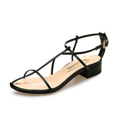 Confort Talon Mariage Chaussures Blanc amp; été Evénement Rouge Noir 06769847 Microfibre Sandales Printemps Bas Femme Soirée YxPIT1wqP