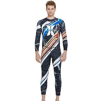 Dive&Sail Bărbați Neopren Întreg 1.5mm SBR Neopren Costume de scafandru Rezistent la UV, Înaltă Elasticitate Manșon Lung Fermoar Spate Mată Iarnă