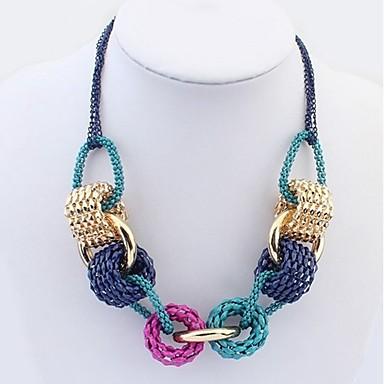 levne Dámské šperky-Dámské Náhrdelníky s přívěšky Silný řetězec dámy stylové umělecké Klasické Slitina Duhová 55 cm Náhrdelníky Šperky 1ks Pro Denní