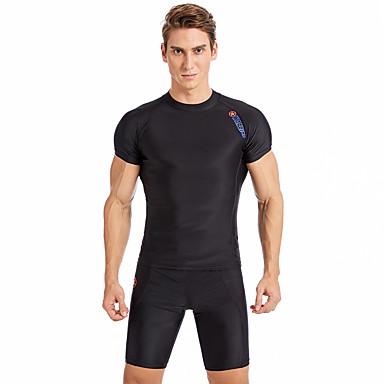 SABOLAY Bărbați Chiloți Înot Uscare rapidă, Respirabil Poliester / Spandex / Chinlon Manșon scurt Costume de Baie Costum de plajă Costume de Baie Mată Înot / Exerciții exterior / Sporturi Acvatice
