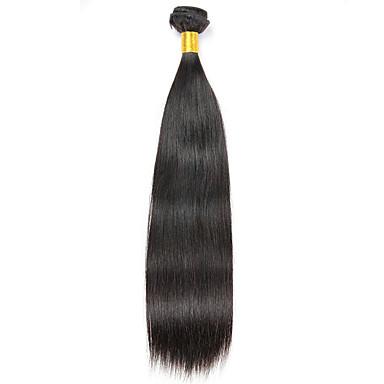 baratos Extensões de Cabelo Natural-1 pacote Cabelo Brasileiro Liso 8A Cabelo Humano Extensões de Cabelo Natural 8-28 polegada Côr Natural Tramas de cabelo humano extensão Extensões de cabelo humano Todos