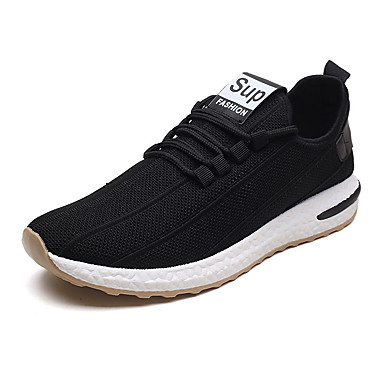 Men's Fall Mesh Spring &  Fall Men's Comfort Athletic Shoes Running Shoes White / Black 6aa9d4