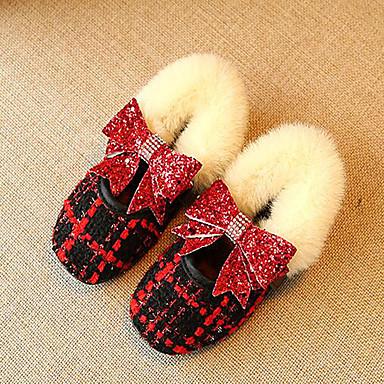 Fete Pantofi Polyester / PU Primăvara & toamnă Confortabili / Balerină Pantofi Flați Plimbare pentru Copii Alb / Negru / Rosu