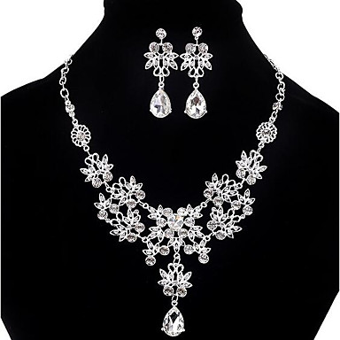 2cbb1e336 Women's Cubic Zirconia Bib Jewelry Set Cubic Zirconia, Imitation Diamond  Drop Statement, Ladies, Party, Double-layer, Fashion, Elegant Include  Pendant ...