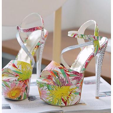 Confort Eté Sandales Vert Jaune Aiguille Polyuréthane Talon Rouge 06838089 Femme Chaussures tPqHaa