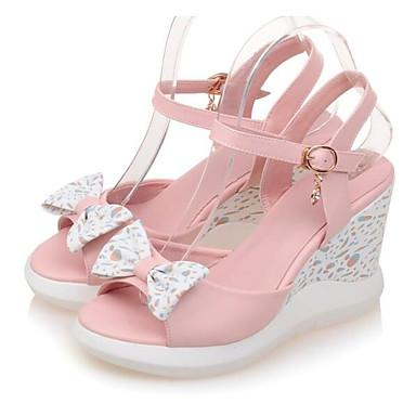 2c3003694858d3 Rose 06797555 Sandales Escarpin Bleu compensée Hauteur Chaussures  Microfibre Eté Basique Blanc de Femme semelle Confort ...