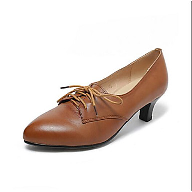Printemps Cuir Confort Kitten Automne Marron Oxfords Femme Heel Noir 06833137 Chaussures Nappa xt4U6wZa