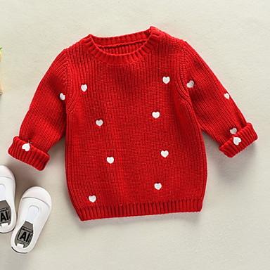 Djeca Djevojčice Aktivan Print Dugih rukava Džemper i kardigan
