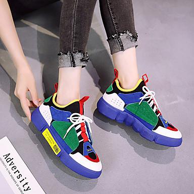 Pied Marche Blanc Chaussures Plat rond Femme Beige 06817174 Bleu Talon Maille Chaussures d'Athlétisme Course à Bout Eté Confort Polyuréthane Cxvpxqzw
