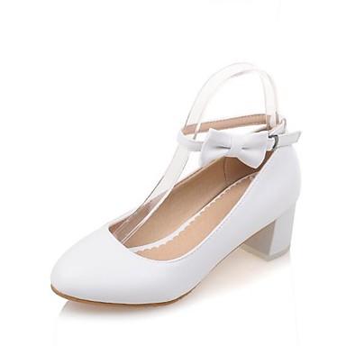Polyuréthane Bout Talon Rose Chaussures Noeud Chaussures Bottier rond Femme Blanc Printemps Talons à Confort été 06783167 Bleu wf5WvxRpq